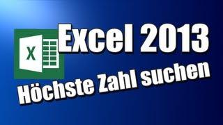 Höchste-niedrigste Zahl suchen - Excel 2013