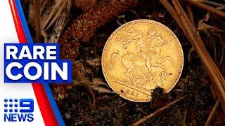 Brisbane man finds rare gold sovereign coin   9 News Australia
