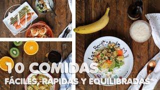 COCINA 1 DÍA PARA TODA 1 SEMANA | 10 comidas fáciles, rápidas y equilibradas