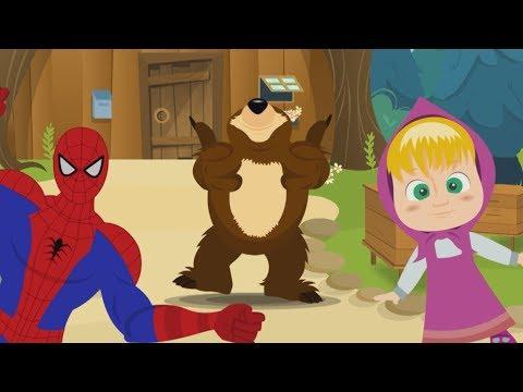 CHU CHU UA Baby Dance Masha Orso e Spiderman - Compilation di Canzoni per Bambini  di Dolci Melodie
