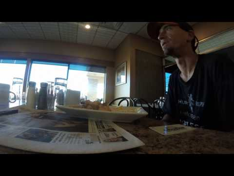 Interview At Days Inn Just Inside Alberta During Walk Across Canada