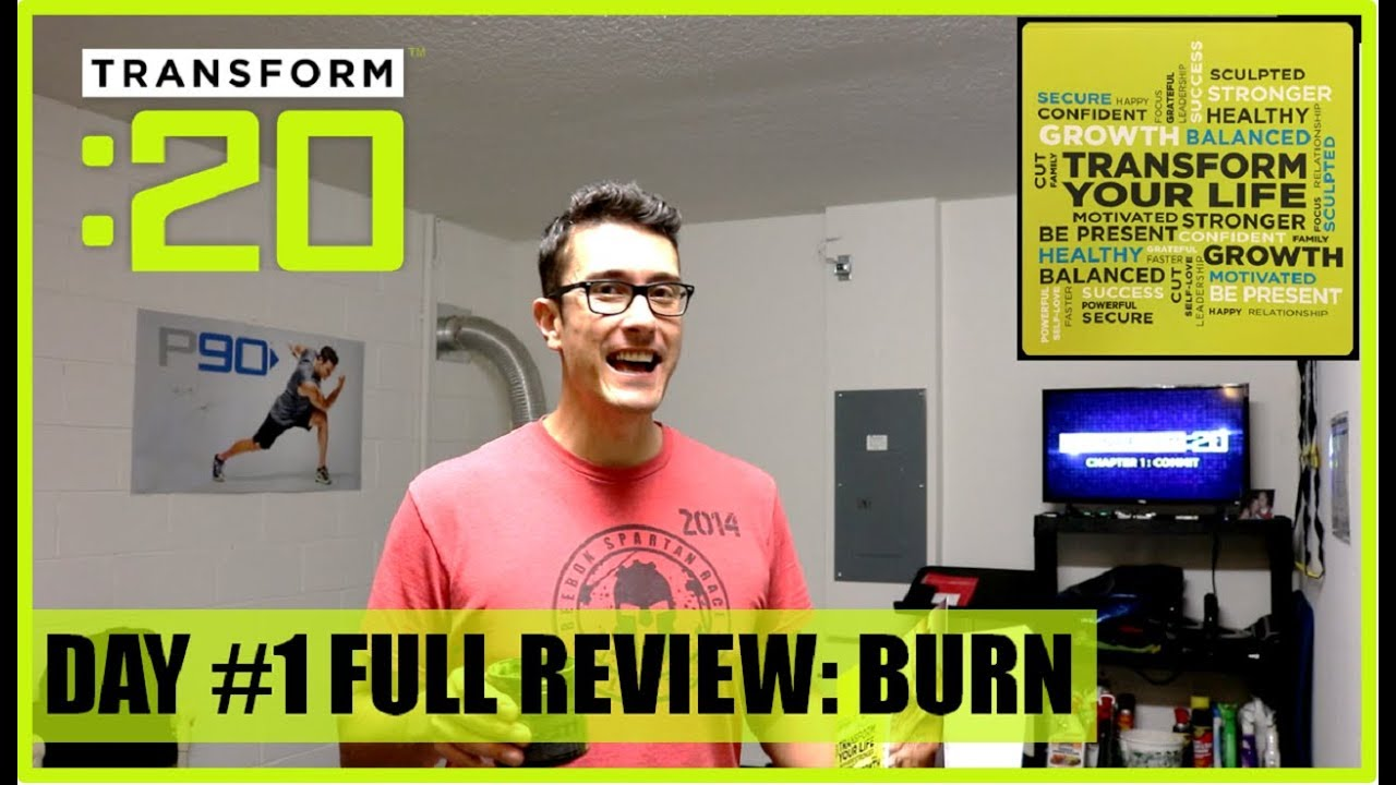 TRANSFORM 20 DAY 1 BURN REVIEW - ON PAR WITH MAX 30 CALORIC BURN!
