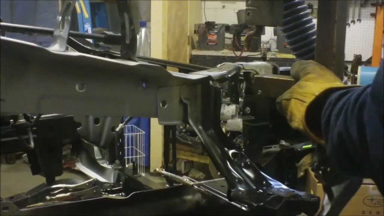 2011 Subaru Outback Front Repair On Celette Bench At J