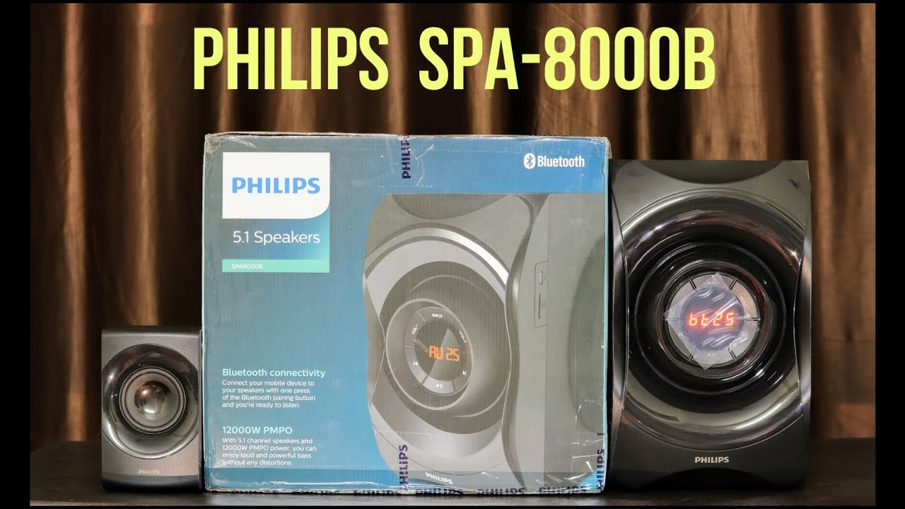 Philips SPA-8000B 5.1 Home Theatre Unboxing And Music Test