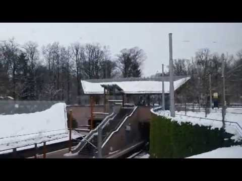 Snow fall and travelling in Stuttgart, Germany