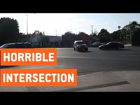 Worst Intersection in Los Angeles   Typical LA Drivers