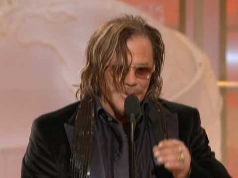 Mickey Rourke Wins Best Actor Motion Picture Drama  Golden Globes 2009
