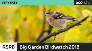 RSPB Big Garden Birdwatch 2018 Results