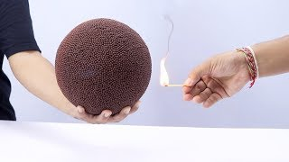 Matches Ball vs Aquarium First Meet DIY Experiment