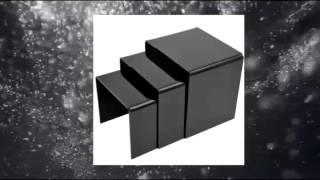 Homcom 3 Pc 5mm Acrylic Nesting Waterfall End Table - Black