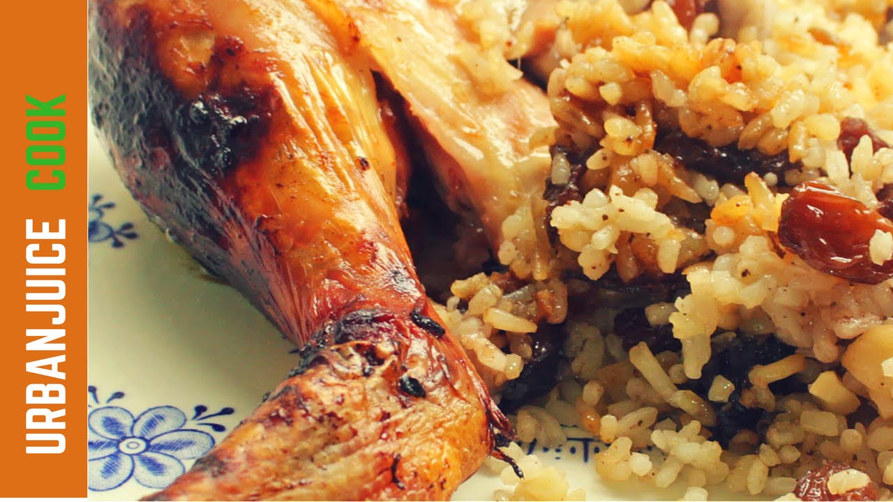 Whole Roast Chicken With Rice Stuffing Recipe Youtube