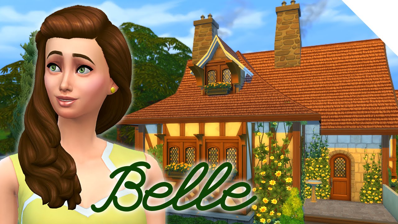 Disney Princess Belle Cottage Sims Build