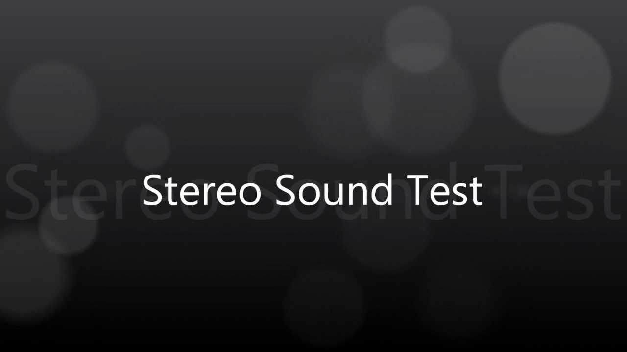 pc stereo sound test