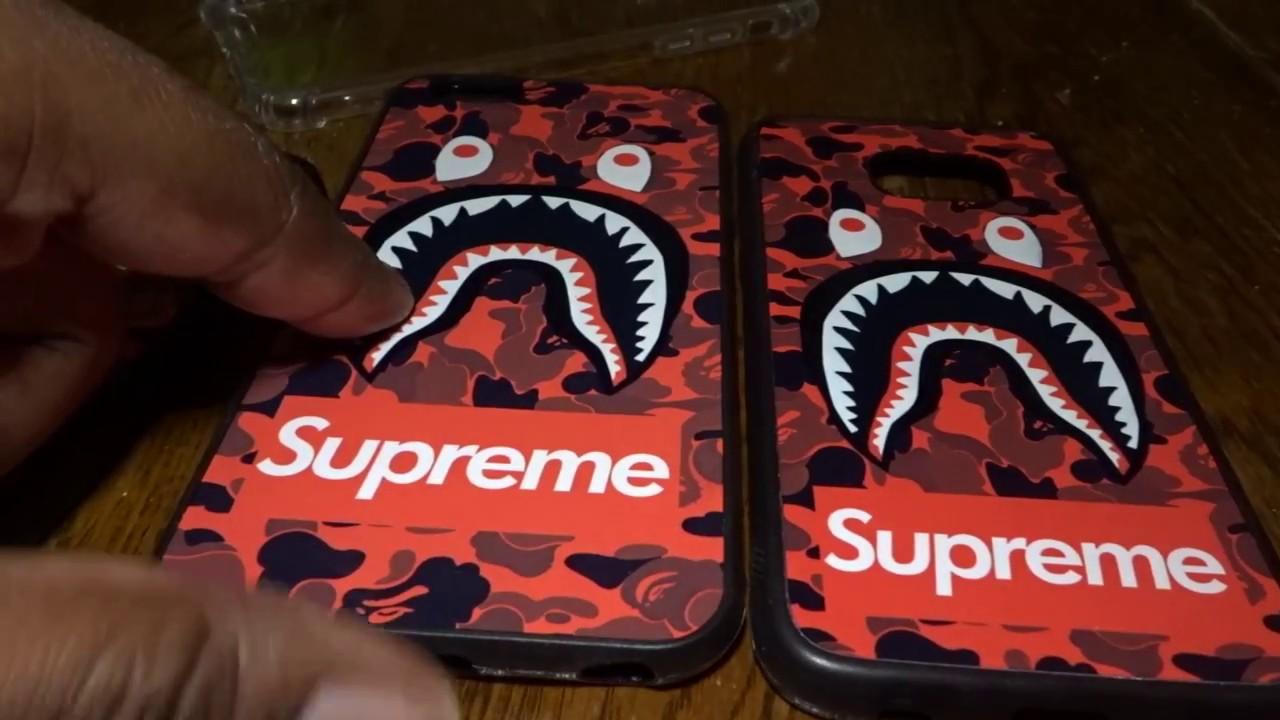 promo code e0f81 542a7 Supreme bape case for iPhone 7 plus