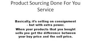 Amazon and Ebay Product Sourcing Done for you