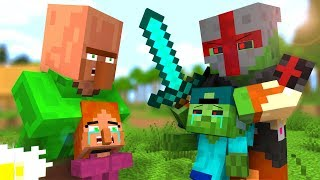 Zombie vs Villager Life 2 Craftronix Minecraft Animation