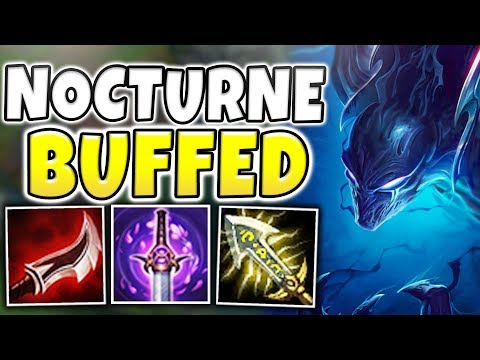 THIS WILL 100% BE NERFED!! INSTANT ACROSS MAP NUKES! BUFFED NOCTURNE GAMEPLAY! - League of Legends