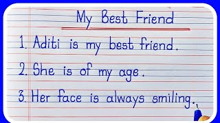 10 Lines on Mỳ Best Friend in English/ Essay on My Best Friend/Essay on My Best Friend in English