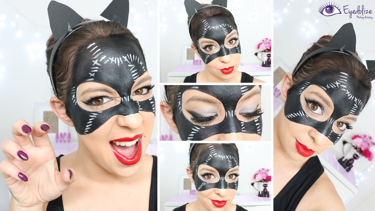 Catwoman Mask Makeup Tutorial by EyedolizeMakeup - YouTube