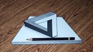 Cara Menggambar Segitiga Ilusi Optik dengan Cara Yang Mudah