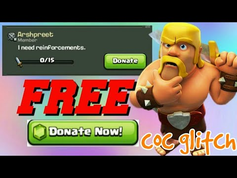 Clash of clans glitch 2017 donate any troops for free without use of any gems,coc glitch 2017,coc