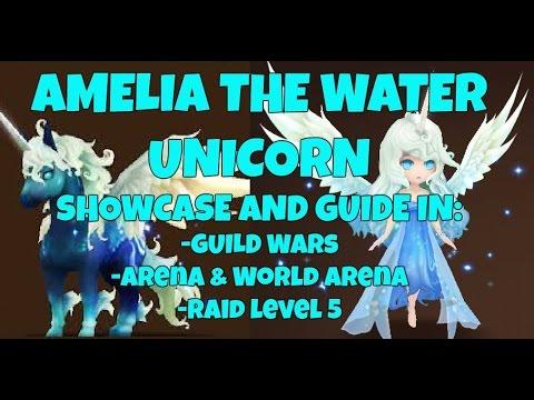 Amelia the Water Unicorn Showcase in GW, Arena, World Arena (RTA) and R5