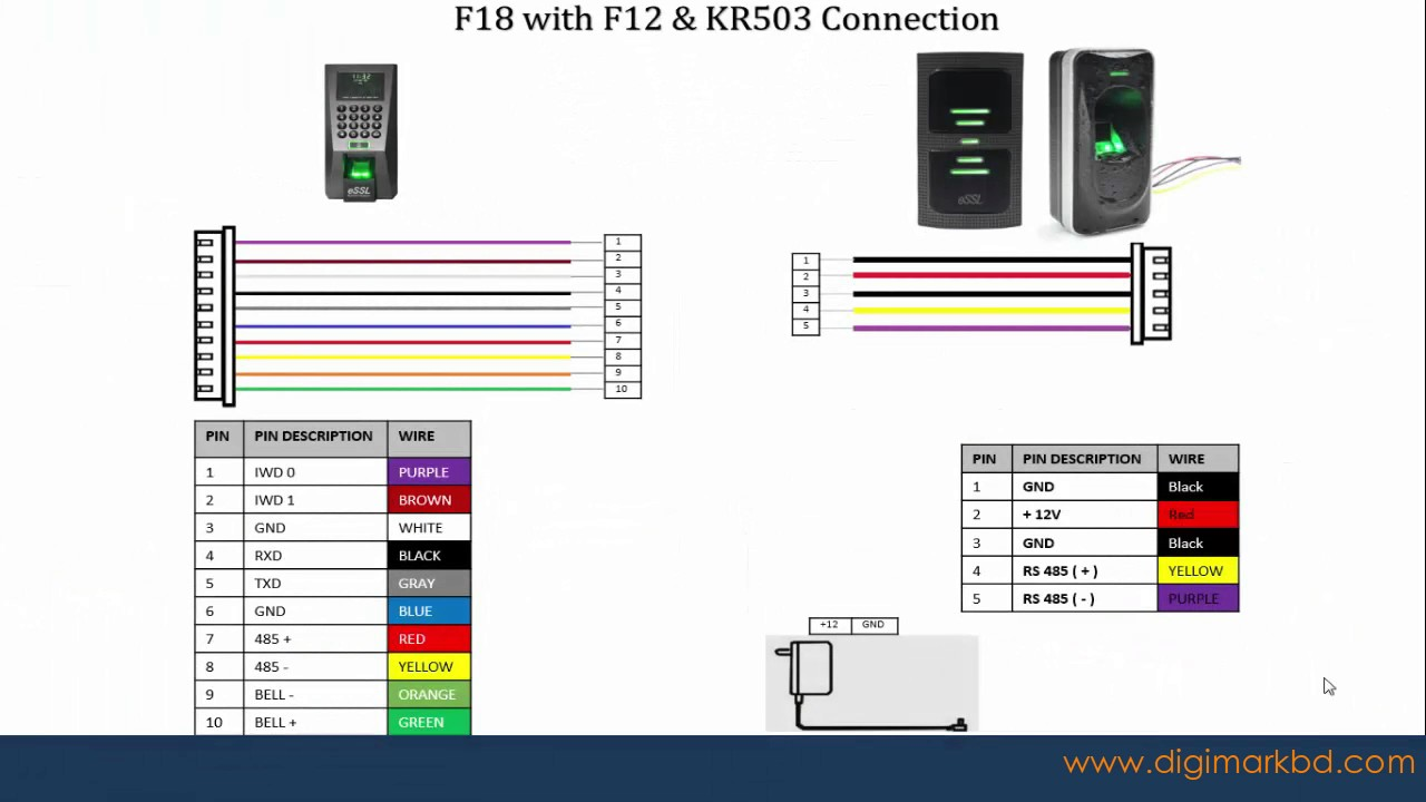 Wiring Diagram Of Network How To Connection F18 With Em Lock Youtube