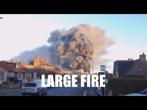 Exclusive Huge Fire Peterhead Scotland