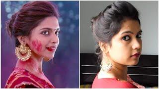 Download lagu EASY Everyday Messy Bun Hairstyle for School College Work Deepika Padukone Indian Hairstyles MP3