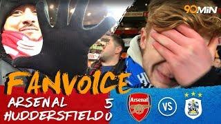 Arsenal thrash Huddersfield with a 5-0 win! | Arsenal 5-0 Huddersfield! | 90min FanVoice