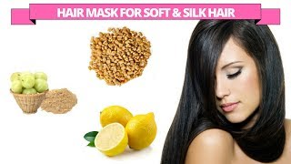 How to get soft, silky and shiny hair with Fenugreek, Lemon and Amla powder