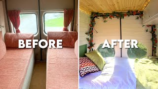 VAN TOUR | F๐rd Transit Converted Into Beautiful Tiny Home - Van Life (Starts Now)