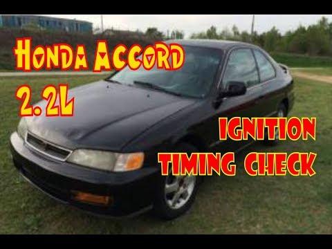 Honda Accord Ignition Timing Check F22 Dx Ex Lx