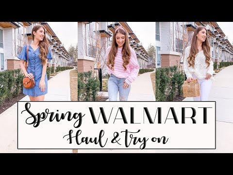 SPRING WALMART HAUL + TRY ON (Stylish and affordable!) // Lauren Dumonceau