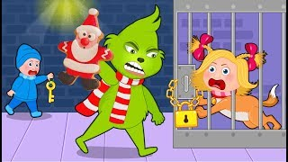 The Grinch Crying in Prison 💖 The Grinch Babysitter Showdown💖 Cartoon for kids #2