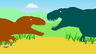 Веселые Динозаврики. Тираннозавр Рекс против Кархародонтозавра. Динозавры мультфильм(Веселые Динозаврики. Тираннозавр Рекс против Кархародонтозавра. Динозавры мультфильм Подпишись\ Subscribe:..., 2016-08-09T22:06:00.000Z)