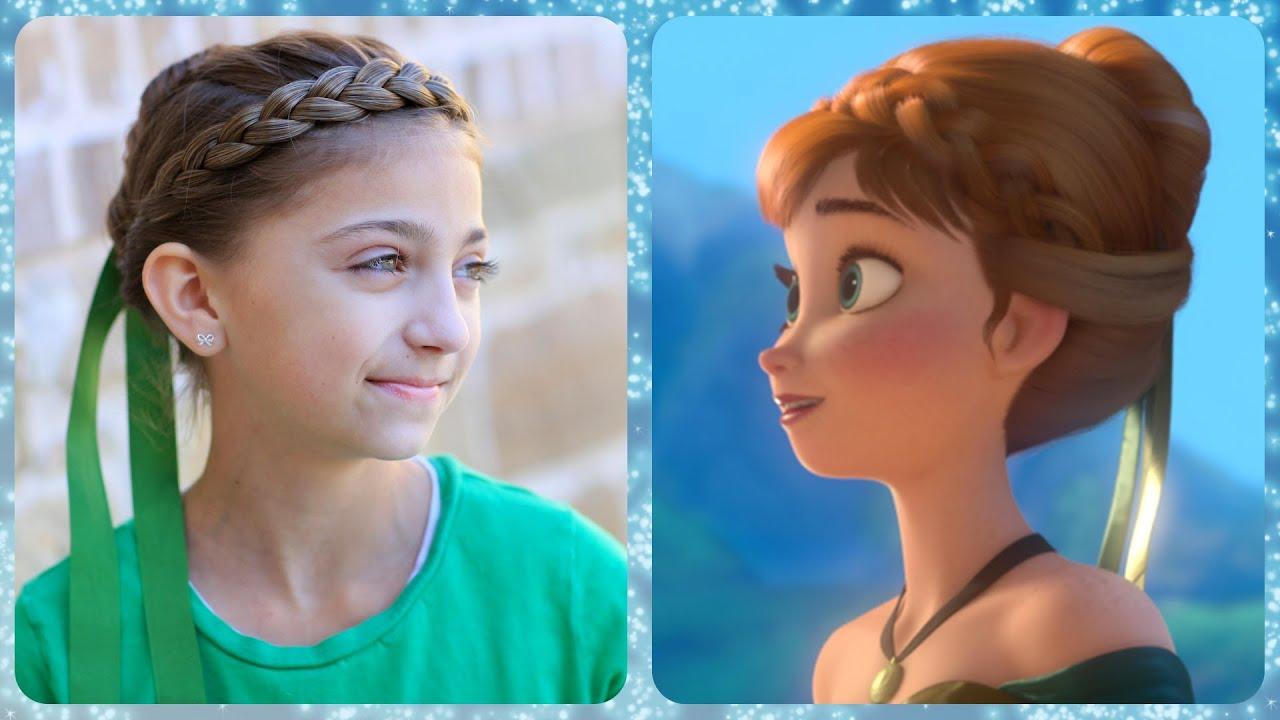 Frozen Inspired Anna s Coronation Hairstyle Tutorial