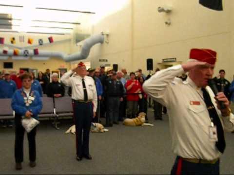 Pease Greeters - USMC - Marine Hymn - 03/04/12 2nd Battalion 5th Marines