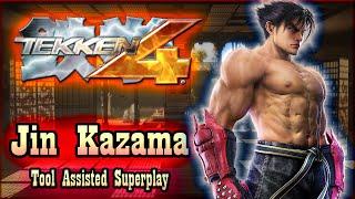 【TAS】TEKKEN 4 (PS2) - JIN KAZAMA ULTRA HARD STORY MODE