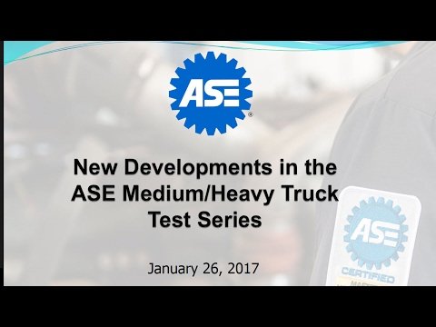 New Developments in the ASE Medium/Heavy Truck Test Series