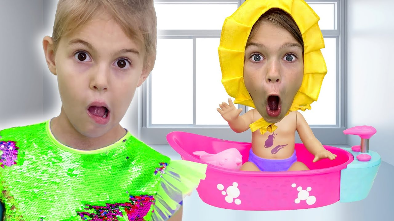 Five Kids found a doll and pretends to be a parent  + more Children's Songs and Videos