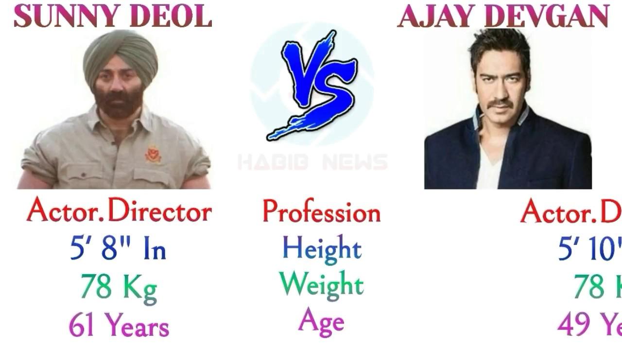 Sunny Deol vs Ajay Devgan Comparison 2018, #SunnyDeol Lifestyle #AjayDevgan  Net Worth