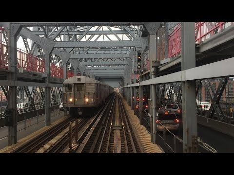 NYC Subway HD 60fps: Budd R32 Z Skip-Stop Train Thunderstorm Railfan Window RFW Ride (7/25/16)