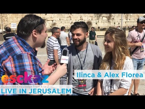 ESCKAZ in Jerusalem: Interview with Ilinca and Alex Florea (Romania) at Israel Calling
