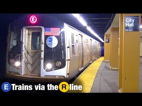 ⁴ᴷ E trains Rerouted via the R Line to Whitehall St