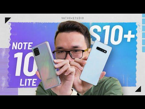 So sánh Samsung Galaxy Note 10 Lite và Galaxy S10+