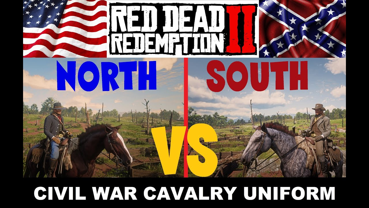Red Dead Redemption 2 Civil War outfits Union & Confederate