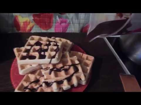 Очень вкусные Вафли с шоколадом в Электро гриле  GF-040 Waffle-Grill-Toast