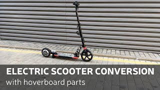DIY: Electric Scooter Conversion With Hoverboard Parts