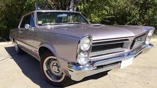 Iris Mist 1965 Pontiac GTO Tri-Power 389 4-Speed muscle car